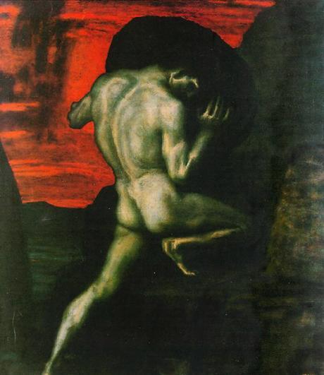 Sisyphus painting by Franz von Stuck